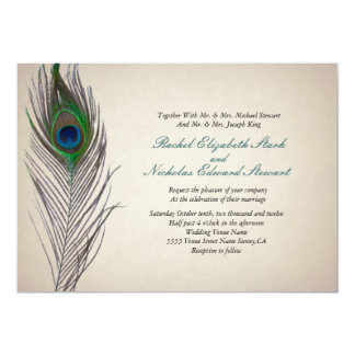 Peacock Invitations Announcements Zazzlecouk