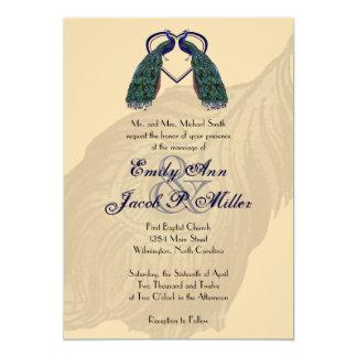 Vintage Peacock Wedding Invitations