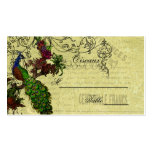 Vintage Peacock Wedding Place Cards Business Card Template