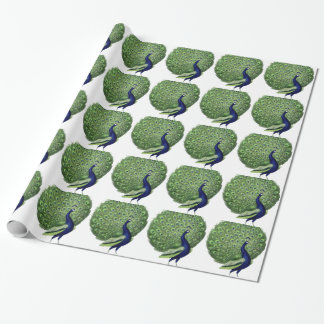 Vintage Peacock Gift Wrapping Paper