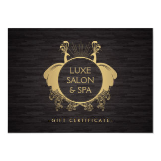Vintage Peacocks Beauty Salon Spa Gift Certificate Card