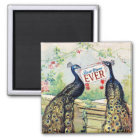 Vintage Peacocks - Best Mum Ever Magnet