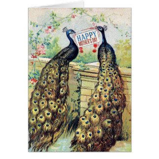 Vintage Peacocks - Happy Mother's Day Greeting Card