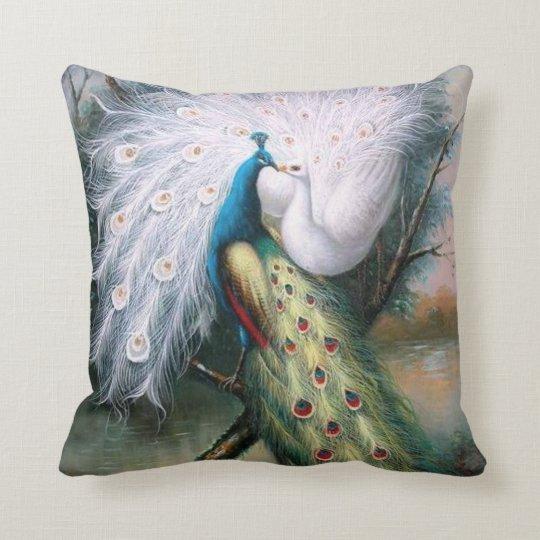 Vintage Peacocks Kiss Cushion Zazzle Co Uk