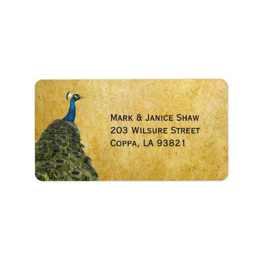 Vintage Peacocks Label