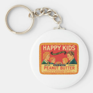 Vintage Peanut Butter Food Product Label Basic Round Button Key Ring