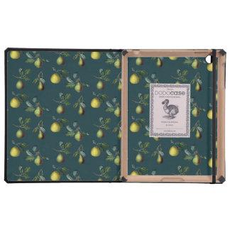 Vintage Pear Illustration iPad Case