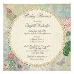 Vintage Pearls & Lace Shabby Chic Baby Shower Custom Invite