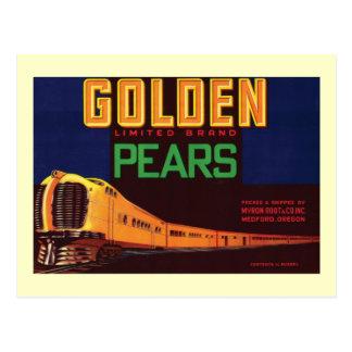 Vintage Pears Food Product Label Postcard