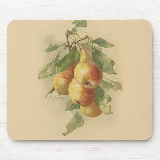 Vintage pears mousepads
