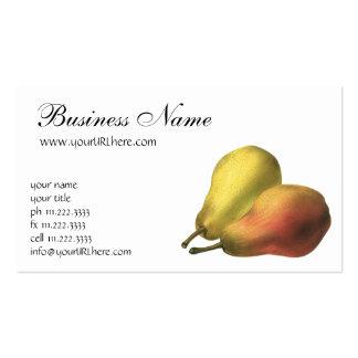 Vintage Pears, Organic Foods, Ripe Fruit Pack Of Standard Business Cards