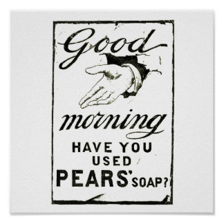 VINTAGE PEARS SOAP ADVERT - Circa 1895 Poster