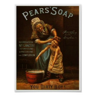 Vintage Pears Soap Poster