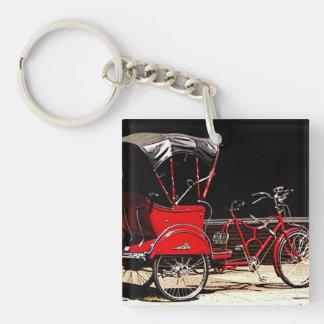 Vintage Pedal Cab Single-Sided Square Acrylic Keychain