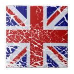 Vintage Peeling Paint Union Jack Flag