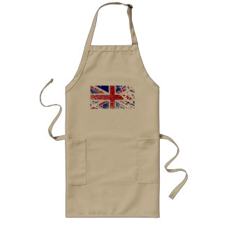 Vintage Peeling Paint Union Jack Flag Long Apron