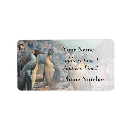 Vintage Penguin Herd Label