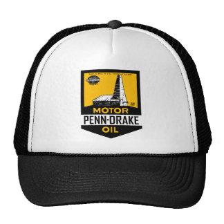Vintage Penn Drake Motor Oil sign Trucker Hats