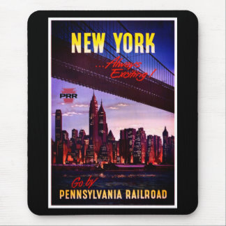 Vintage Pennsylvania Railroad to New York Mouse Mat