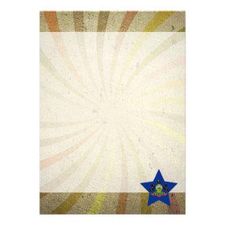 Vintage Pennsylvanian Flag Swirl 13 Cm X 18 Cm Invitation Card