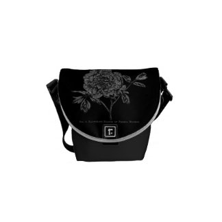 Vintage Peony Engraving Commuter Bag
