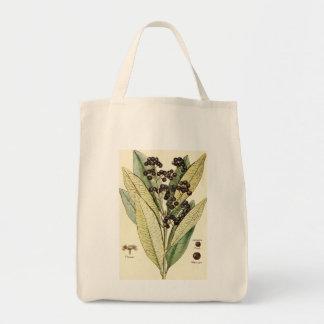 Vintage peppercorn illustration groceries tote bag