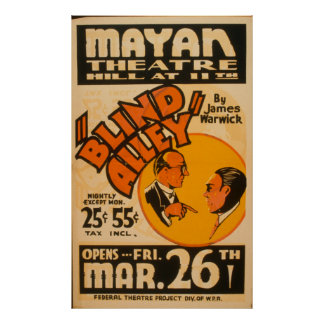 Vintage Performing Arts Blind Alley WPA Poster