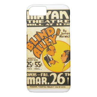 "Vintage Performing Arts ""Blind Alley"" WPA Poster iPhone 7 Case"