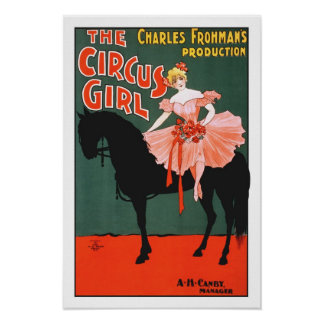 Vintage Performing Arts Poster The Circus Girl