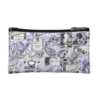Vintage Perfume Lables Cosmetic Bag
