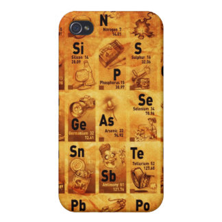 Vintage Periodic Table for iPhone iPhone 4/4S Case