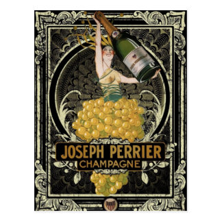 Vintage Perrier Champagne Postcard