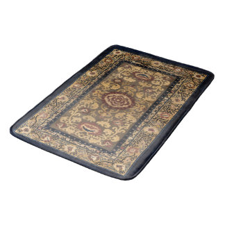 Vintage Persian Oriental Turkish Carpet Pattern Bath Mat