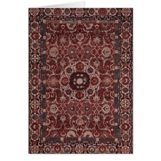 Vintage Persian Tapestry Note Card