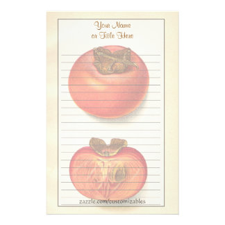 Vintage Persimmons Stationery