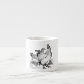 Vintage Personalized Chicken Rooster Cochin Birds Espresso Mug