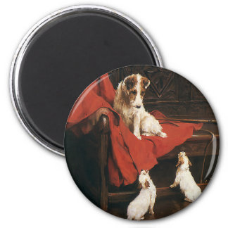 Vintage Pet Animals, Jack Russel Terrier Dogs Magnet