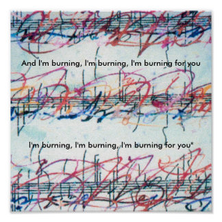 Vintage Peter Max style Burning for you Print