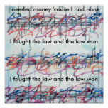 "Vintage Peter Max style ""I fought the law"" Print"