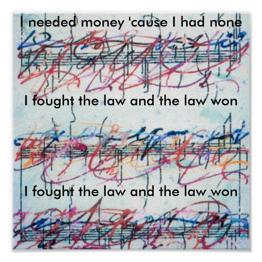 """Vintage Peter Max style """"I fought the law"""""""