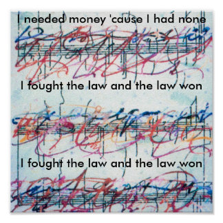 Vintage Peter Max style I fought the law Print