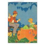 Vintage Peter Peter Pumpkin Eater Nursery Rhyme Cards