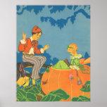 Vintage Peter Peter Pumpkin Eater Nursery Rhyme Posters