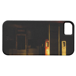 Vintage petrol pumps at night, Riddle, Oregon, iPhone 5 Cases