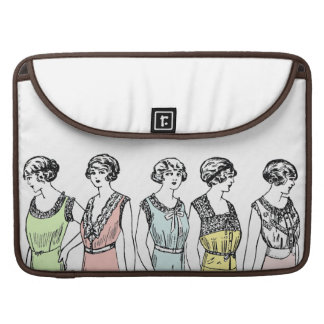 Vintage petticoats & lace Macbook laptop sleeve Sleeve For MacBook Pro