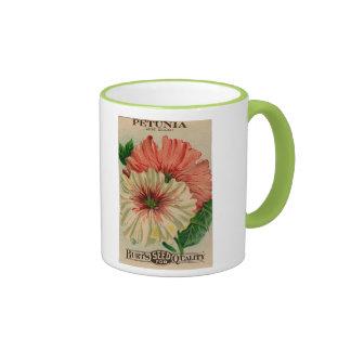 vintage petunia seed packet mug