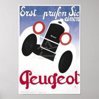 Vintage Peugeot Ad 3 Poster