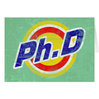 Vintage Ph.D or PhD or Doctor Of Philosophy Card