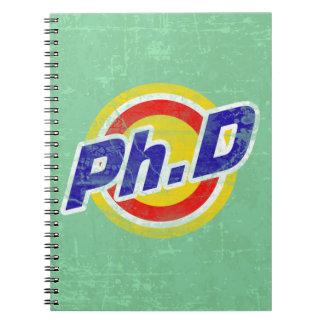 Vintage Ph.D or PhD or Doctor Of Philosophy Notebook
