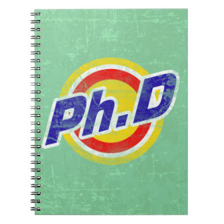Vintage Ph.D or PhD or Doctor Of Philosophy Spiral Notebook